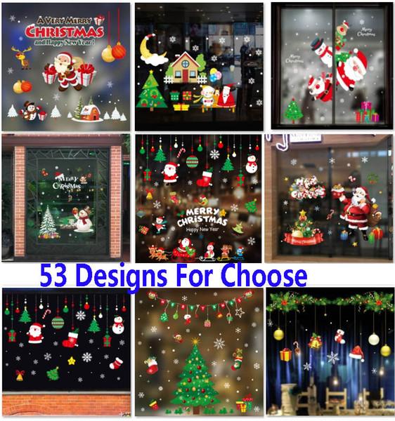 Inicio Feliz Navidad.Compre Adhesivos Autoadhesivos De Navidad Decoraciones Liquidacion Pvc Feliz Navidad Ornamento Inicio Ventana Pegatinas De Pared Alameda De Compras