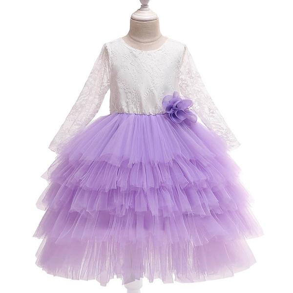 Nouvelle dentelle filles robes filles de fleurs princesse robe enfants vêtements de marque filles robes de soirée robes robes de mariée robe enfants vêtements A5566