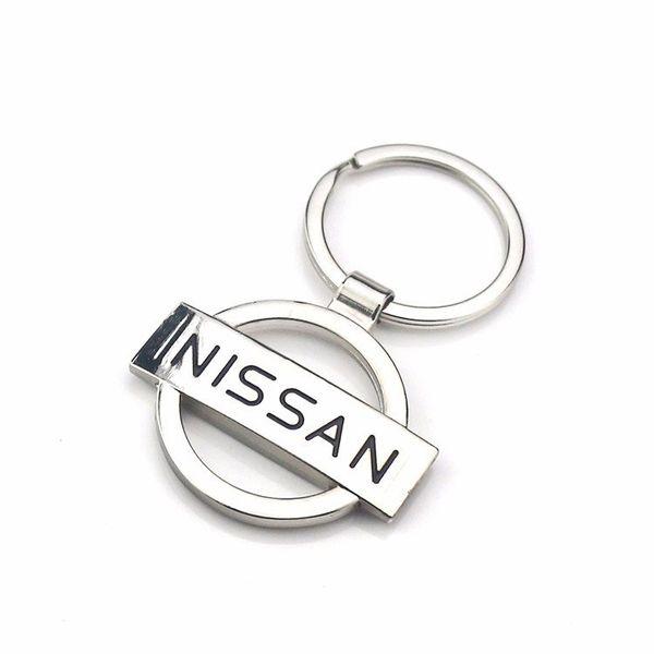 Creative Gift Nissan Car Logo Hollow Mark Metal Key Button Waist Hanging Key Ring Chain Keychain Auto Parts Car-styling