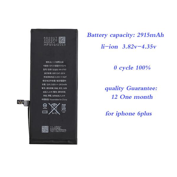 Baterías compactas para apple iphone 6plus 6 s más 7plus 8 8plus x batería del teléfono celular 100% regalo original pegatina polímero li-ion de alta capacidad