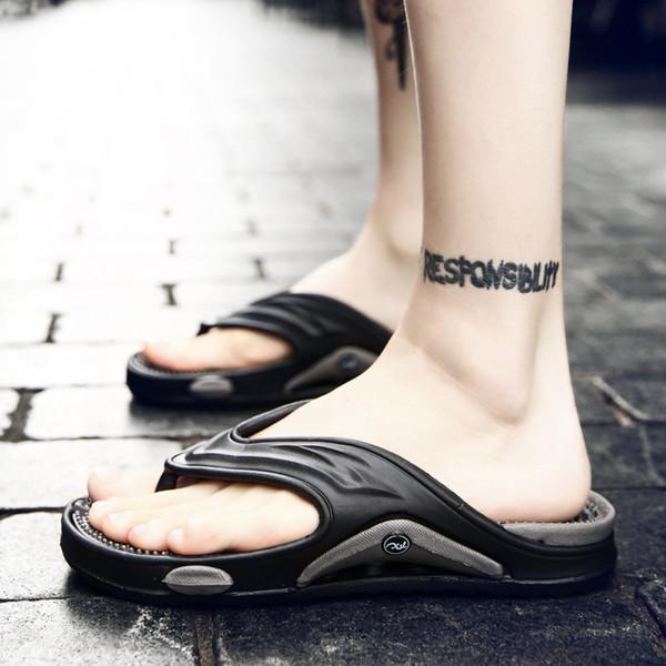 Suela gruesa, playa, zapatillas para hombre, de moda sólida, sandalias de verano, zapatos de hombre sucintos