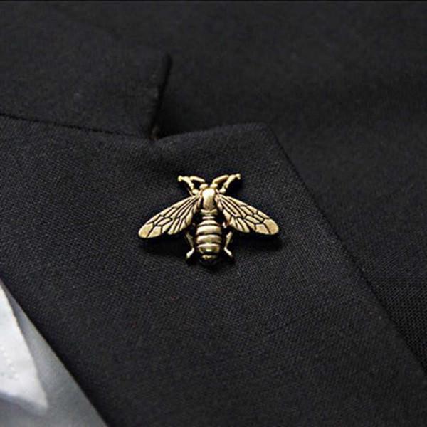 Novo Designer de Broche Top Fashion Abelha Broche Pinos Mulheres Pin Fivela Broches Jóias para Presente de Prata Ouro