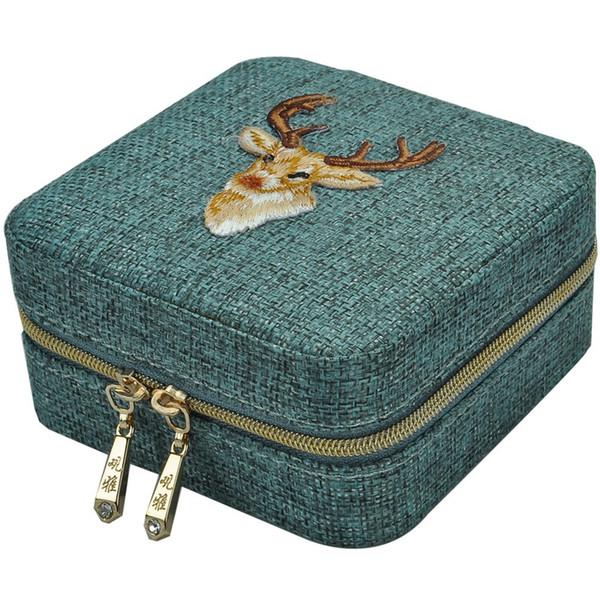 Caja de almacenamiento del anillo del collar nueva ropa de cama caja multifuncional pulsera Pendientes Regalo de la muchacha Organizador