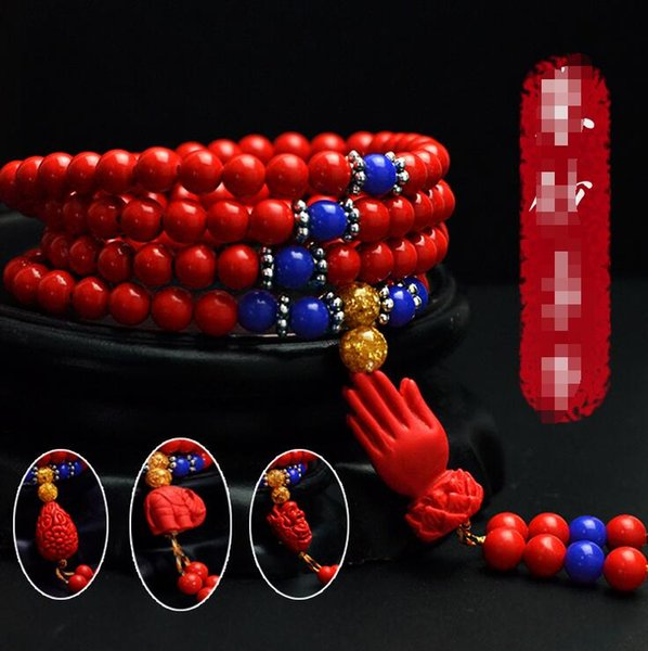 Cinnabar beads decoration Beads 6mm bracelets Cinnabar fashion jewelry
