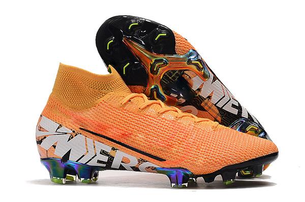2019 Nuovi scarpe da calcio da uomo più economiche Mercurial Superfly VI 360 Elite FG Scarpe da calcio in oro bianco Tacchetti da calcio Neymar alla caviglia alta
