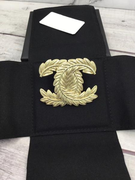 dames de femmes de luxe de mode estampillé feuille broches du palais broches avec boîte livraison gratuite