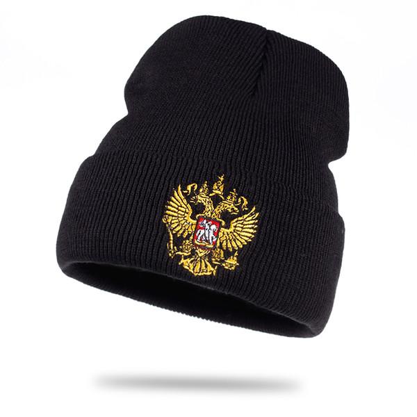 La fábrica vende directamente algodón de alta calidad ruso, gorritas tejidas calientes unisex, mujeres flexibles, sombreros de punto, hombres, sombrero de invierno cálido