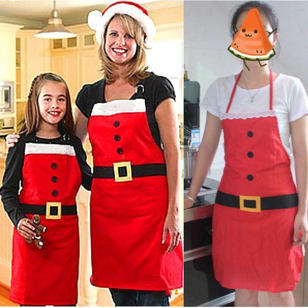 Noel Apron Dekorasyon Kumaş Mutfak Pişirme Malzemeleri Noel Yemeği Noel Partisi Için Karikatür Önlük Dekorasyon HH7-1885