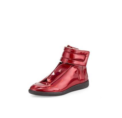 Alta Qualidade colorido Maison Martin Margiela Alta Top Sapatilha homem Sapatos Masculinos Sapatos de Caminhada dos homens MMM Formadores Kanye West sapatos Casuais 38-46