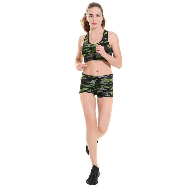 2016 Sexy Yoga Shorts Women Camouflage Print Women Shorts New Style Women's Sports Fitness Leggings YG008 #220832