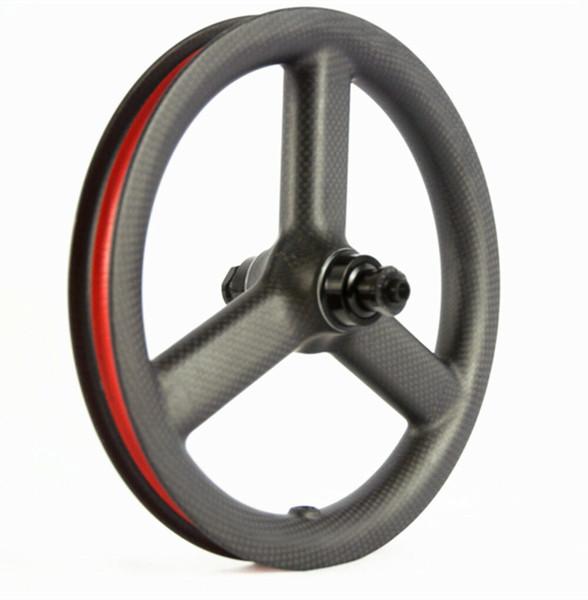 12 Inch 3 spoke Carbon Wheelset Bicycle Carbon Wheels Kid Balance Bike push bike wheels