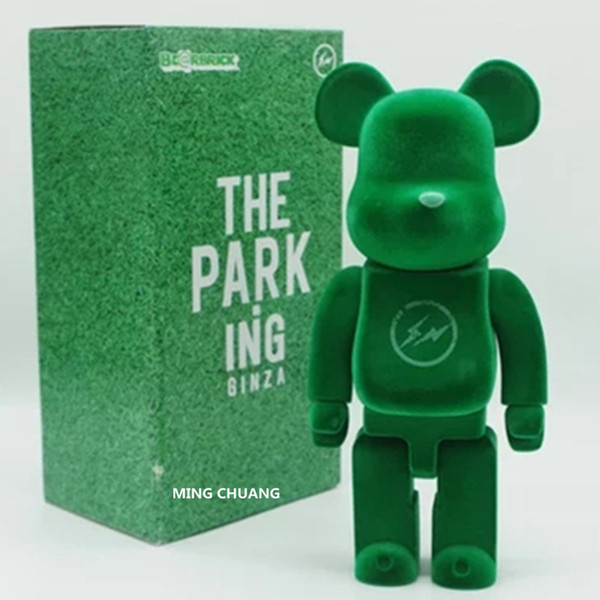 11 Inches 28CM 400% Bearbrick Flocking Gloomy BB PVC Action Figure Collectible Model Toy Flashing Cat Rabbit