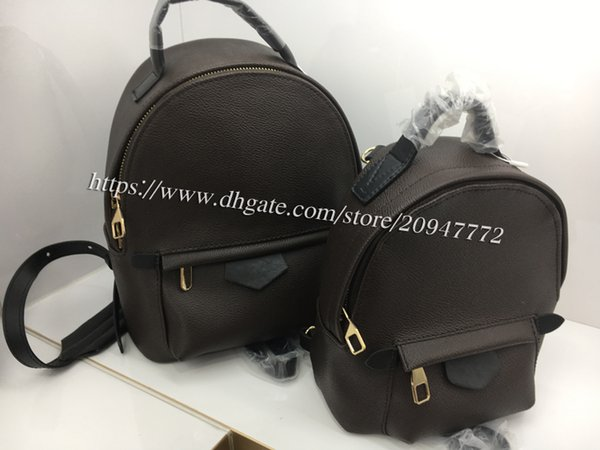 top popular High Quality Women's Palm Springs Backpack 41560 Children Backpacks High Grade Hardware Genuine Leather Mini Backpack 41562 Factory Price 2019