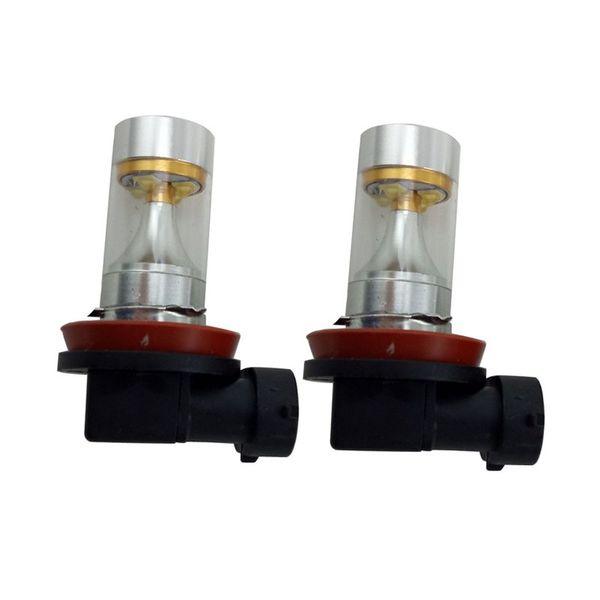 2 Stück H11 LED-Reflektor-Spiegel extrem helles Xenon-Weiß für DRL oder Nebelscheinwerfer