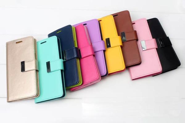 Per Iphone XS max Case Mercury Rich Diary Portafoglio Custodia in pelle PU con slot per schede Tasca laterale per Iphone 8 Plus Galaxy S10 nota 9 DHL libero