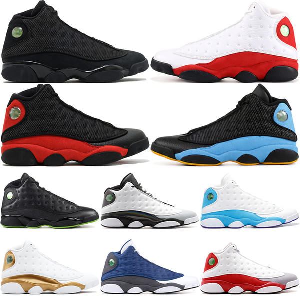 13 He Got Game Men Basketball Shoes Phantom Black Cat Chicago Flint Bred Melo Class of 2003 Hyper Royal Sports Sneakers US 8-13