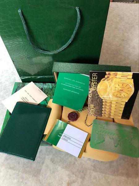Para los hombres buenos reloj Rolex original de la caja de madera verde Caja interior mujer unisex del exterior de la fábrica 116610 116660 116710 lujo de la marca de los hombres del reloj de las cajas