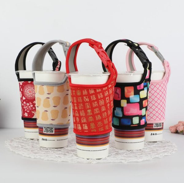 Neopren Wasserflasche Isolierte Abdeckung Tasche Halter Strap Pouch Träger Warme Wärmedämmung Wasser Tasse Taschen Becher Abdeckung für 700c KKA6879