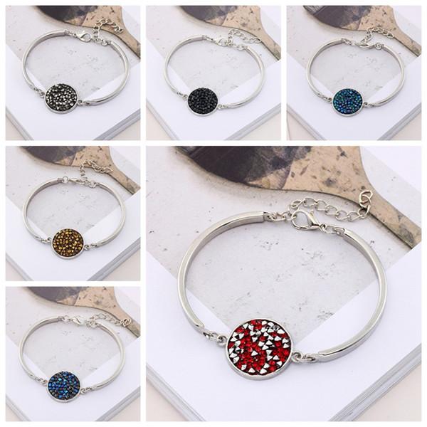 Braccialetto in acciaio inox moda bambino ragazza braccialetto 18mm strass colore eccellente gioielli