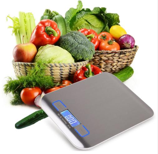 5kg/1kg Digital Scale Kitchen Cooking Measure Tools Stainless Steel Electronic Weighing Tool LCD Electronic Bench Weight Scales