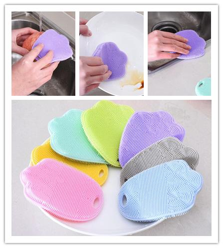 7 Colors Magic Washing Brush Silicone Resuable Household Scrubber Scouring Pad Pot Pan Dishwashing Brushes Kitchen Cleaning Tools