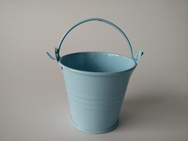 D6*H5CM Candy Holder tin pots Small Pails Flower pot Baby Shower party favor succulents planter Wedding Decor Birthday gift