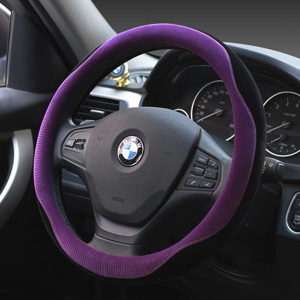KKYSYELVA Nuevo tapizado del volante de felpa decoración interior cálido manillar antideslizante, 5 colores opcionales