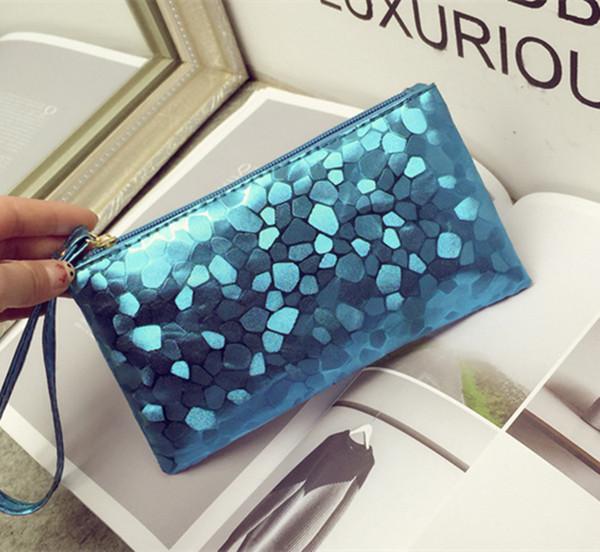 Bolsa de maquillaje caliente bolsa de cosméticos bolsos de las señoras de alta calidad de moda monedero bolsas de teléfono móvil bolsa de regalo promocional