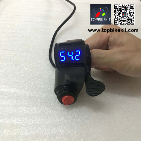 24V 36V 48V Scooter thumb throttle EBike Thumb Throttle with Power switch LCD Digital Battery Voltage Display for electric bike e Scooter