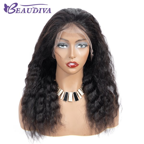 BEAU DIVA 360 Full Lace Human Hair Wigs Deep Wave Human Hair Lace Front Wigs 130% Density Remy Virgin Brazilian Hair