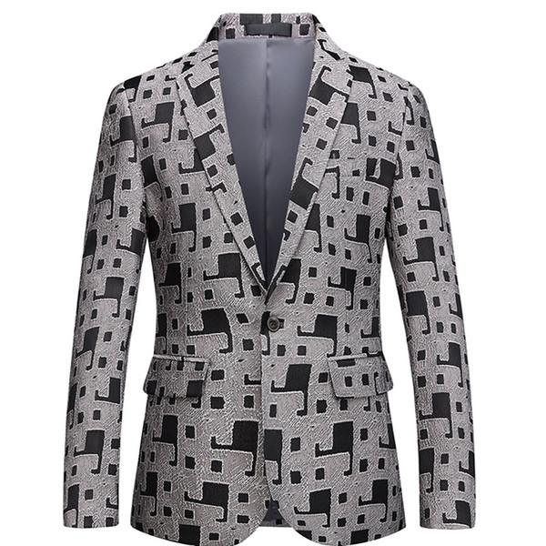 Çiçek Baskılı erkek Takım Elbise Ceket Gelinlik Parti Elbise blazer masculin Slim Fit Blazers Casual Erkek Takım Elbise Blazers Mont