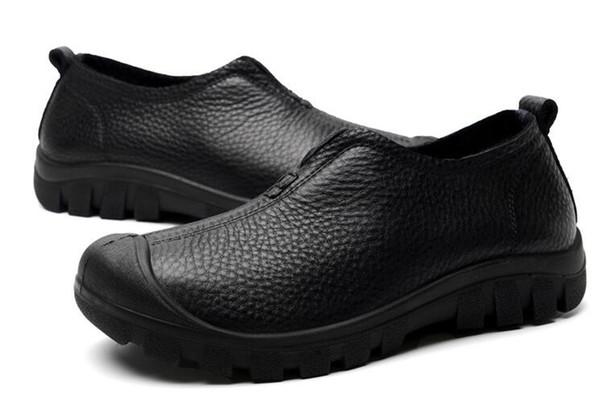 Nouvelle première couche de chaussures hommes de loisirs en cuir large et de grande taille chaussures hommes d'affaires tendance en plein air des hommes Chaussures ck25011241