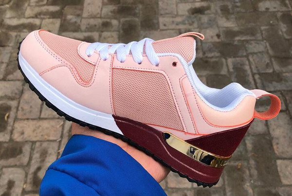 Sıcak Lüks Popüler Deri Rahat Ayakkabılar Kadın Erkek Tasarımcı Ayakkabı Moda Deri Lace Up Ayakkabı Karışık Renk
