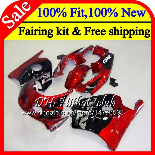 Injection Body+Tank Red black For HONDA CBR 250RR 250R CBR250RR 88 89 76HT7 CBR 250 RR MC19 CBR250 RR 1988 1989 Hot Fairing Bodywork Kit