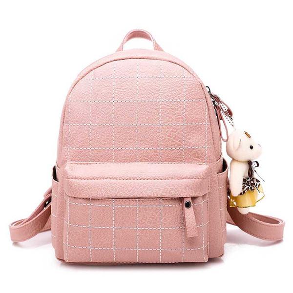 2019 New Pu Damentasche Fashion College Wind Damen Schultertasche Fashion Backpack