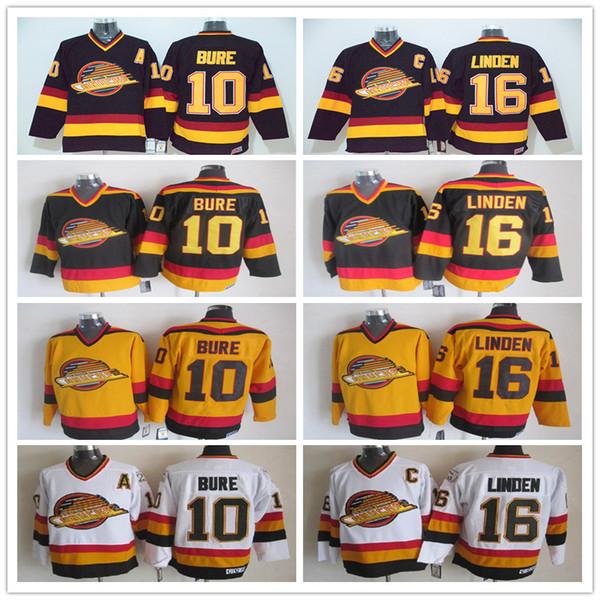 promo code 4f946 d5756 2018 Mens Retro Vancouver Canucks Pavel Bure Hockey Jersey Trevor Linden  High Quality Vintage CCM Hockey Jerseys From Azal001, $30.45   DHgate.Com