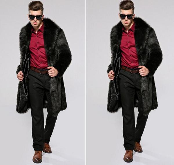 2018 erkek ceket taklit tilki kürk kürk Avrupa ve Amerikan uzun kış giysileri artı gübre artırmak için