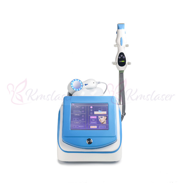 40.68Mhz Face Eye neck Body Fractional RF Radio Frequency with cold cooling handle For Face Skin Antiaging Tighten Spa Beauty Machine