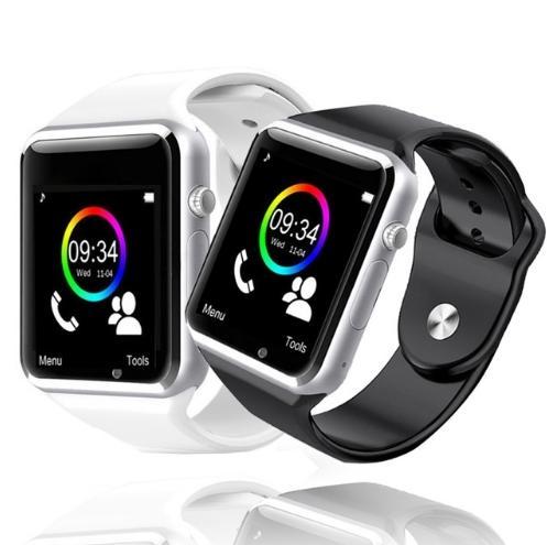 8 colores Deporte impermeable A1 Reloj inteligente Bluetooth GSM Cámara del teléfono Sim para Android / iOS SIM Teléfono móvil inteligente Estado del sueño Reloj inteligente