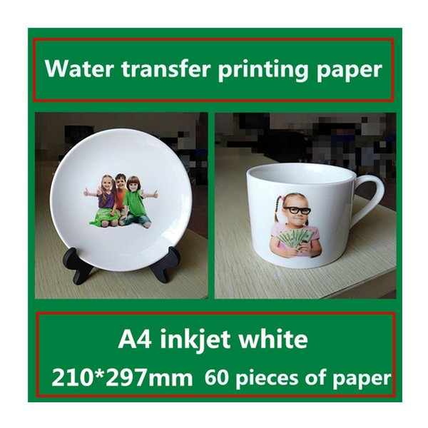 A4 inkjet white water transfer printing paper Ceramic sticker glass pattern transfer