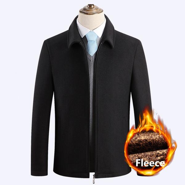 Panno morbido di inverno Cappotto sottile casuale di misura Peacoat spessore caldo Giacca a vento Giacche Casaco Masculino Palto Trench maschile di lana Cappotti