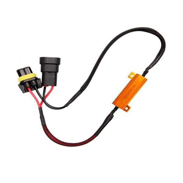 DC12V 50W Kablo Tesisatının 9005 9006 Sis Işık Tel LED FogLamp Hattı Teleferik Araç Modifikasyonu Aksesuarları