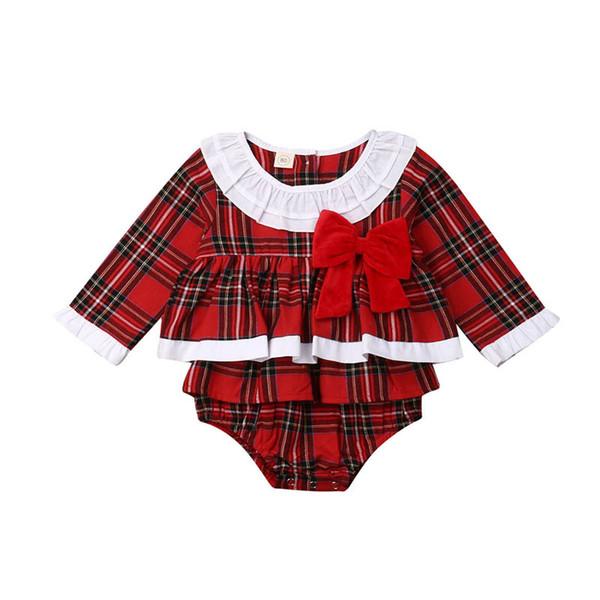 Navidad niñas mameluco del bebé de los mamelucos del recién nacido niña la ropa del bebé del mameluco del mono del bebé de la ropa de diseño A9802