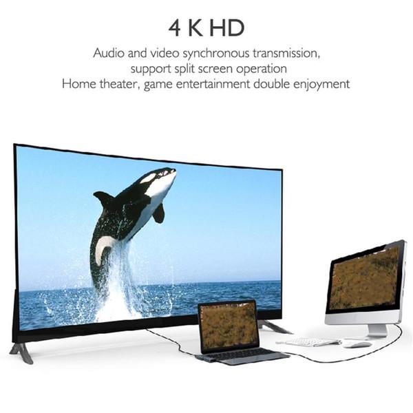 Hub de estación de acoplamiento - Adaptador multipuerto para Macbook Concentrador doble de tipo C USB-C a HDMI Desconcentrador de conversión