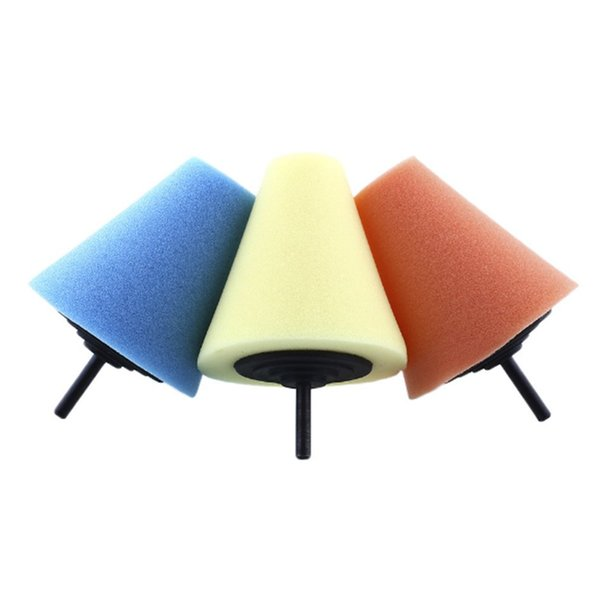 Burnishing Automotive Foam Sponge Polishing Cone Shaped Buffing Pads For car Styling Wheel Hub Care Metal Soft Type NEW Arrivals