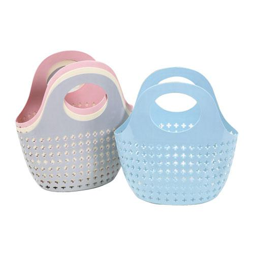 best selling Plastic Portable Storage Basket Handled Shopping Bask Laundry Toiletry Storages Holder Fruits Vegetables Kitchen Container