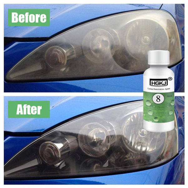 top popular 50ML Car Headlight Restoration Kit Headlamp Repair Cleaner Hydrophobic Glass Coating Car Polish Cleaning Coat Plating Tool HGKJ-8 2021