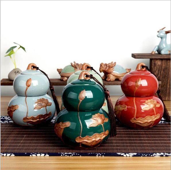 Ge Ofen Kürbis Teekanne Keramik Kung Fu Tee-Set kleine Persönlichkeit neue chinesische Tee Retro doppelt versiegelte Kanne