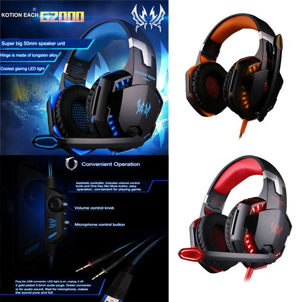 Мода Surround Stereo HiFi Pro Gaming Headset с HD Mic для PS4 XBOX PC Games Компьютеры Game Virtual Sound Gamer