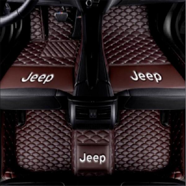 Uygulanabilir Jeep Wrangler 2011-2018 araba kaymaz PU iç mat dikiş çevre dostu tatsız toksik olmayan mat